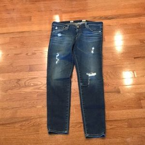 EUC AG Legging Ankle Destructed Jeans